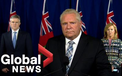 """Coronavirus: Ontario Premier Doug Ford says new restrictions due to """"alarming"""" rise of cases 